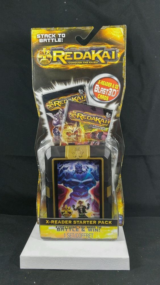 REDAKAI CONQUER THE KAIRU X-READER STARTER PACK 22 Blast3D Cards Stack To Battle #SpinMaster