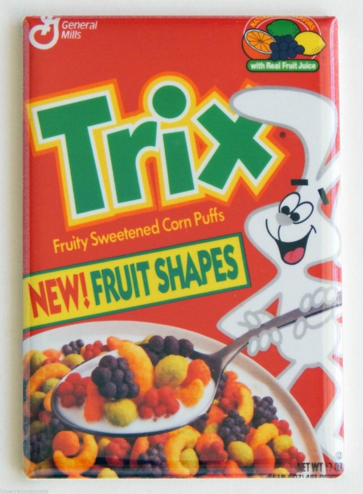trix cereal when the cereal was actually shaped like the fruit it