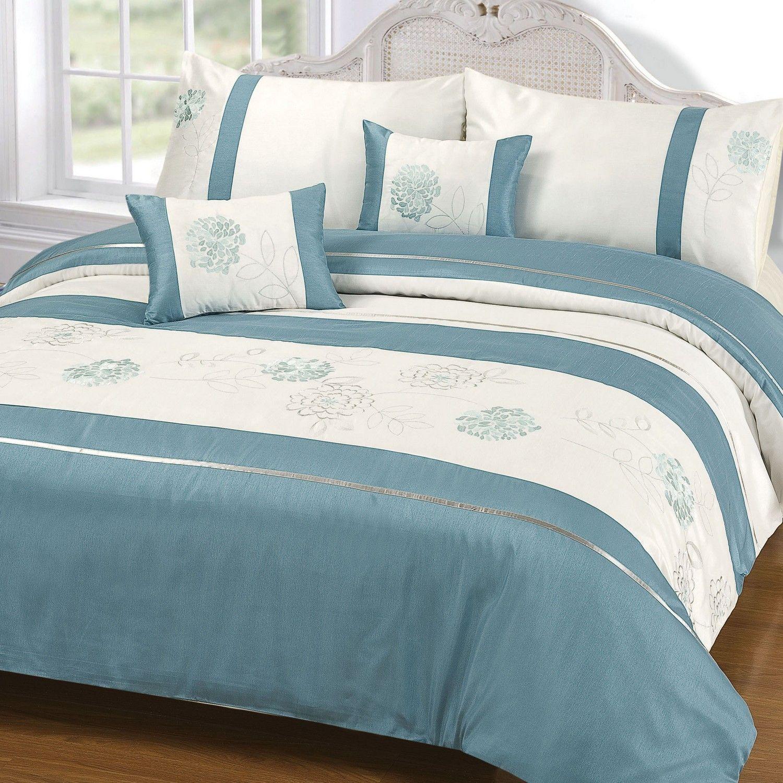 Buy Thornwell Duck Egg Duvet And Pillowcase Set Bedding