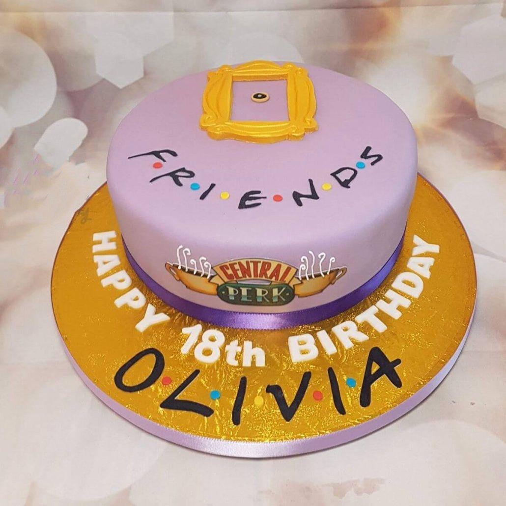 48 Super Tv Shows Birthday Friend Cake Ideas Friends Birthday Cake Friends Cake Themed Cakes