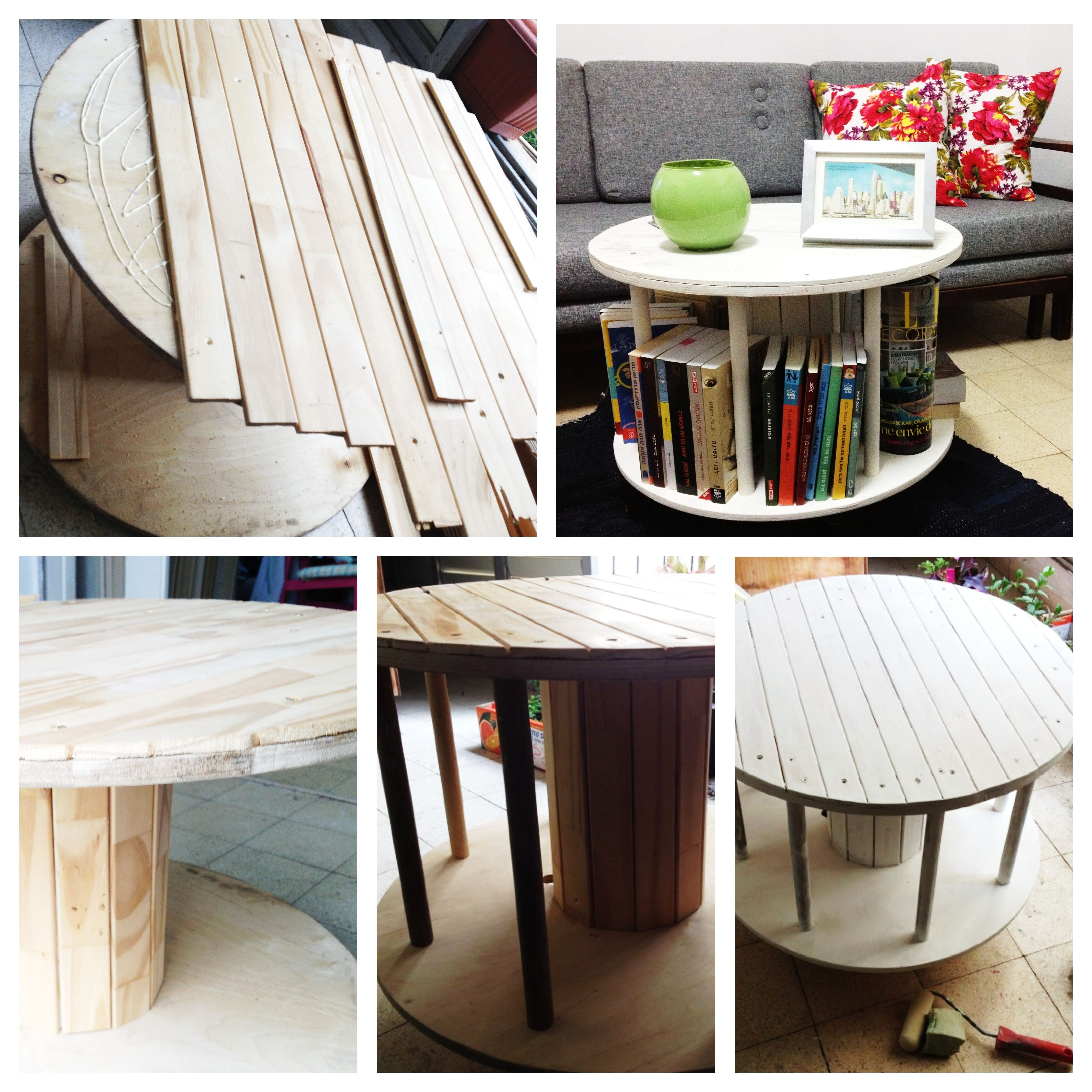 Upcycled cable drum - Pinterest inspired