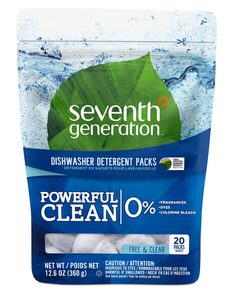 Seventh Generation Dishwasher Detergent Packs Free Clear