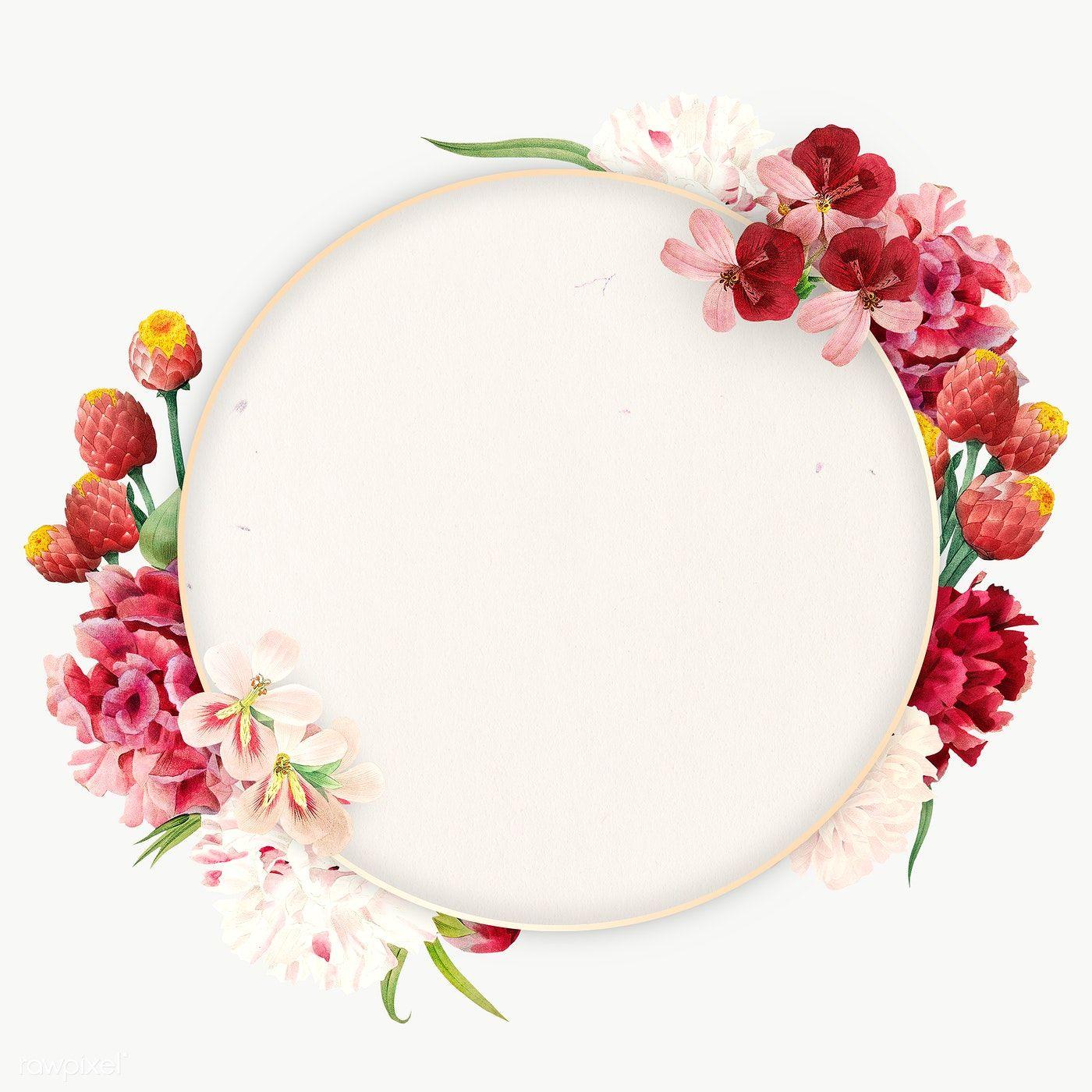 Download Premium Png Of Colorful Round Floral Frame Transparent Png 2090915 In 2020 Flower Frame Flower Illustration Flower Frame Png