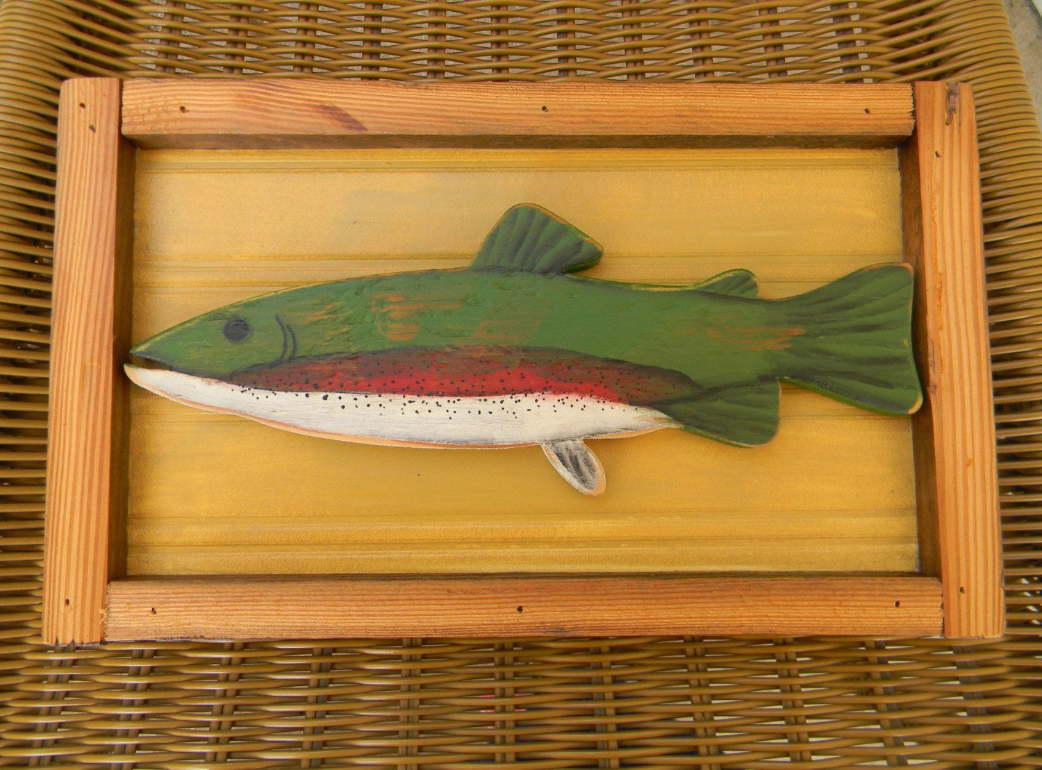 Rustic Fish Decor Cabin Man Cave Father S Day Gift Mother