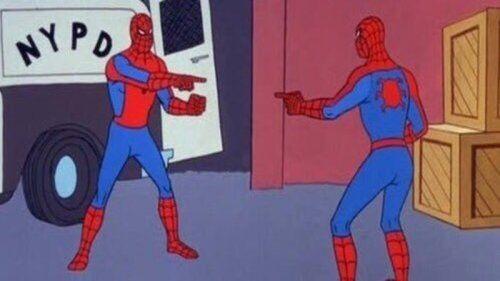 Resultado de imagem para meme homem aranha clone