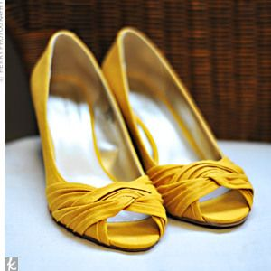 Off Course Id Have Cute Yellow Shoes Under My Dress Comfy And Not Shown Until Reception Yellow Wedding Shoes Bridal Shoes Yellow Shoes