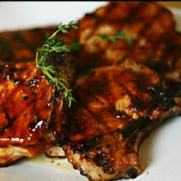 You can substitute 1 cup of ketchup or commercial bbq sauce for tomato sauce - Crockpot Coca-Cola Peach Barbecue Pork Chops