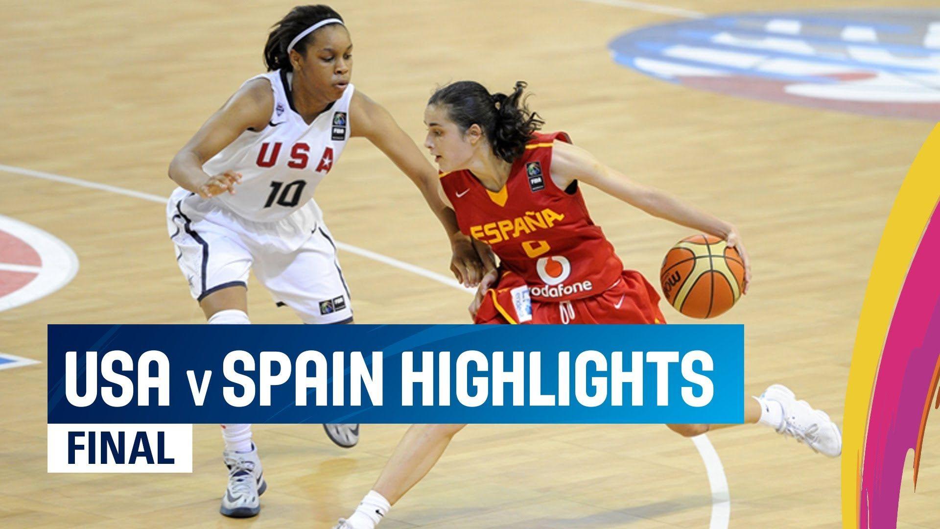 Usa V Spain Highlights Final 2014 Fiba U17 World Championship For Women World Championship Finals Highlights