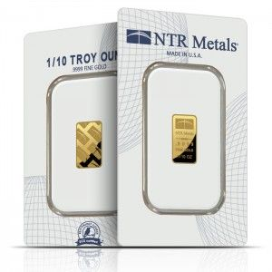 Ntr 1 10 Oz Gold Bar Gold Bullion Bars Gold Bullion Gold Bullion Coins