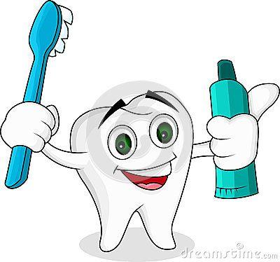 Personaje de dibujos animados del diente  0a12e3d82980