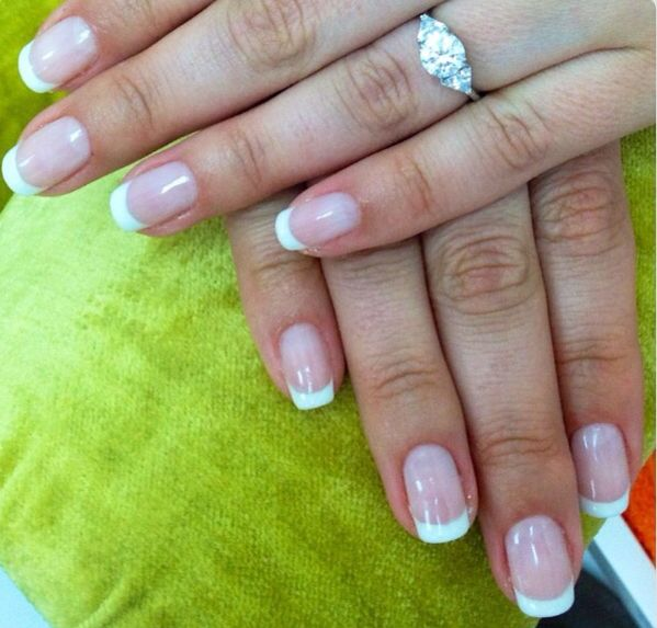 beautiful manicure gel overlay on natural nails | Nails Designs ...