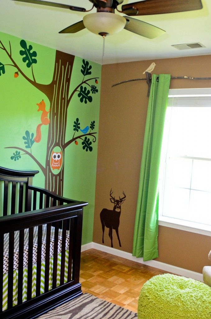 Baby woods 39 woodland themed nursery harry potter theme for Woods themed nursery