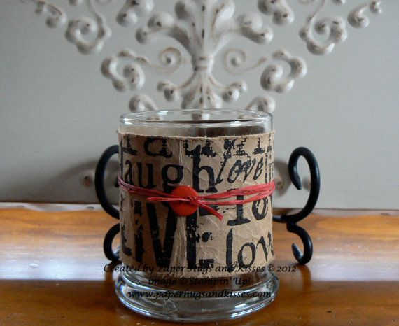 Great Gift Idea Or Wedding FavorLive Laugh Love Candle