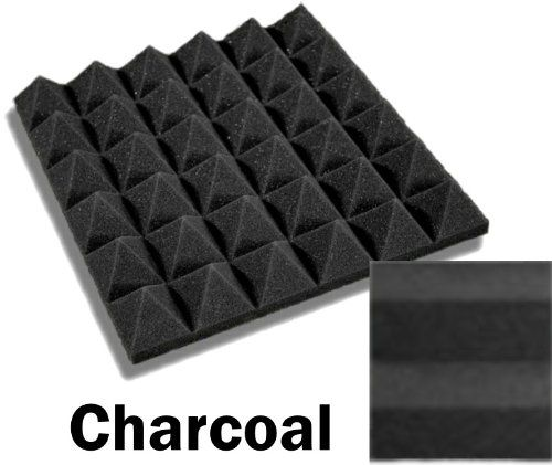 Amazon Com 48 Pack Of 12 X 12 X 2 Inch Acoustical Pyramid Foam Panel For Soundproofing Studio Home Theater Charcoal Musical Foam Panels Studio Foam Foam
