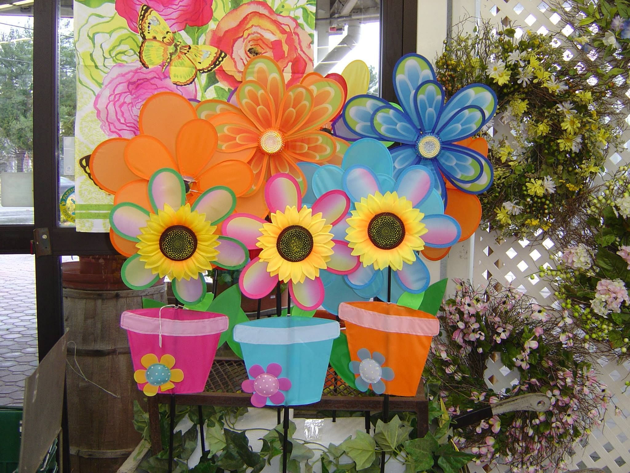 colorful spring decorations for yard grandma shareing On spring yard decorations