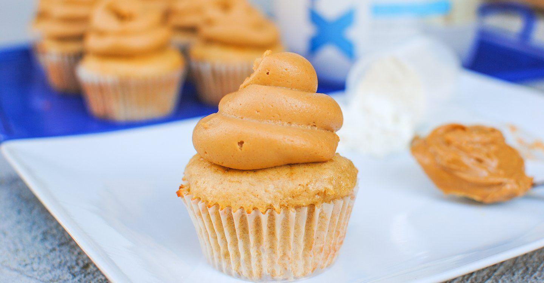Vanilla Peanut Butter Protein Cupcakes