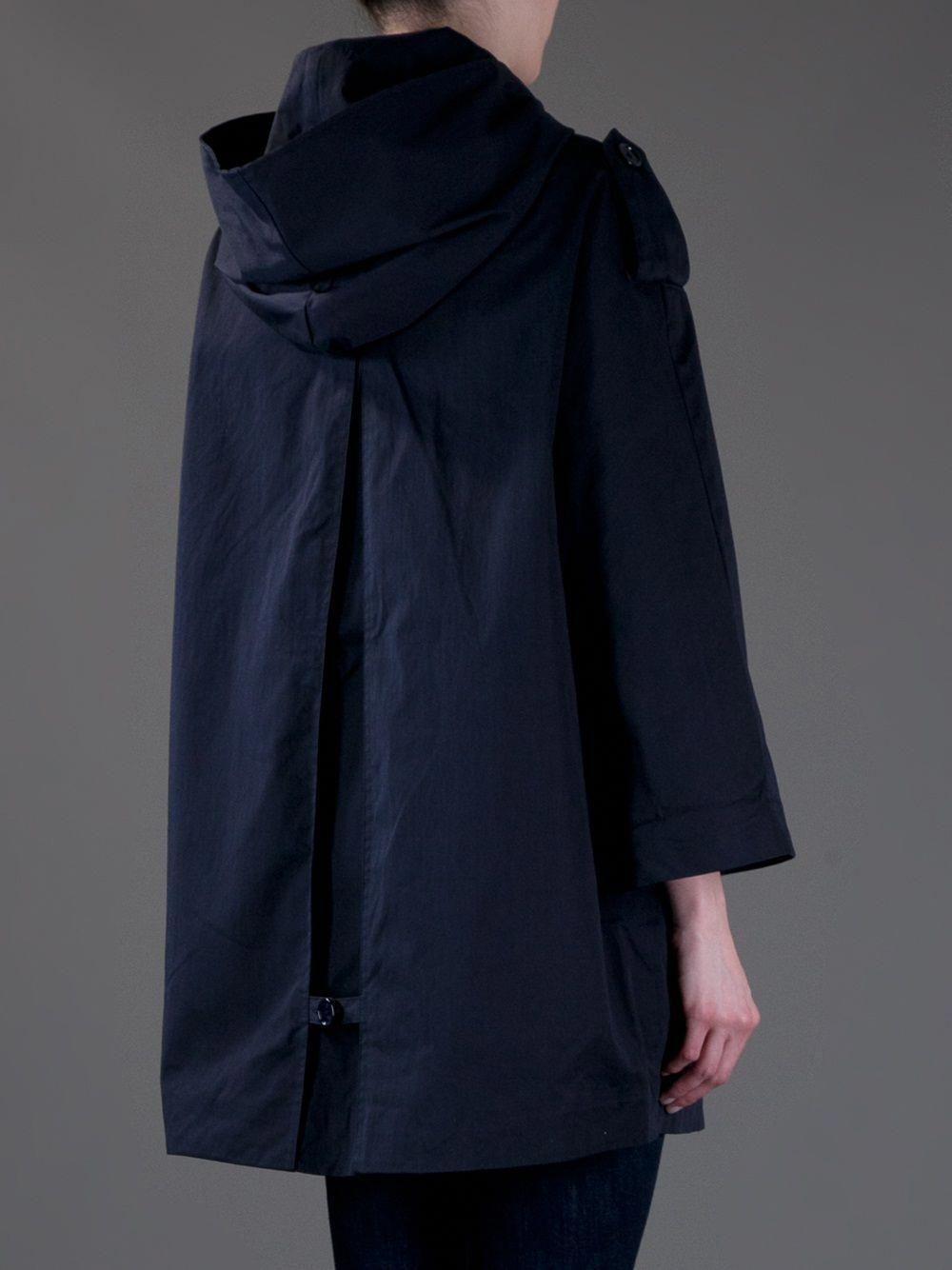 b5b79e9c63a back of sessun hooded raincoat  BlueRaincoat