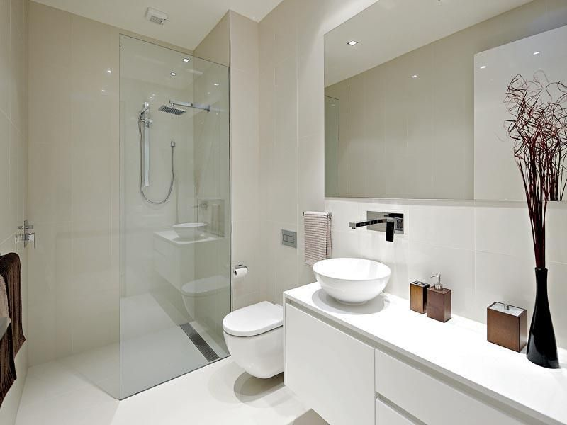 Style Ideas Bathrooms Bathrooms The Kitchen Designer Hipages Com Au Modern White Bathroom Bathroom Design Small Modern Ensuite Bathroom Designs