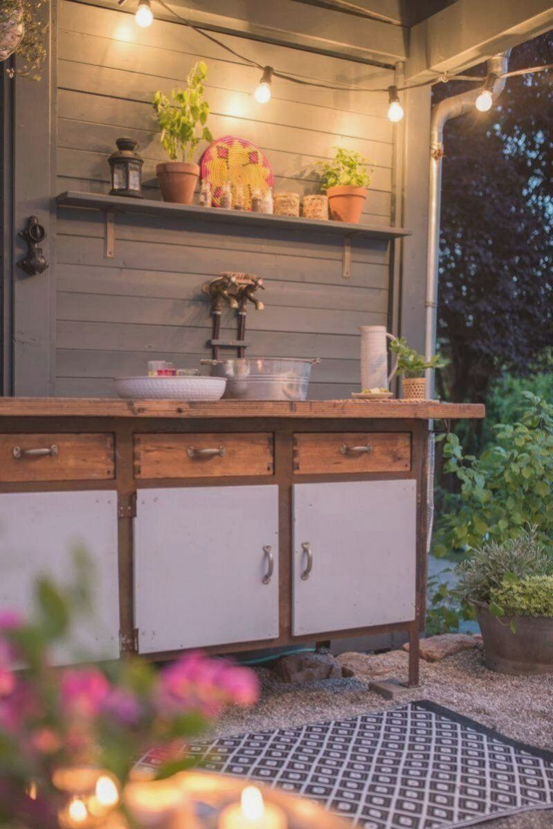 Diy Outdoor Kuche Fur Den Garten In 2020 Kochen Im Freien Diy Terrasse Outdoor Kuche