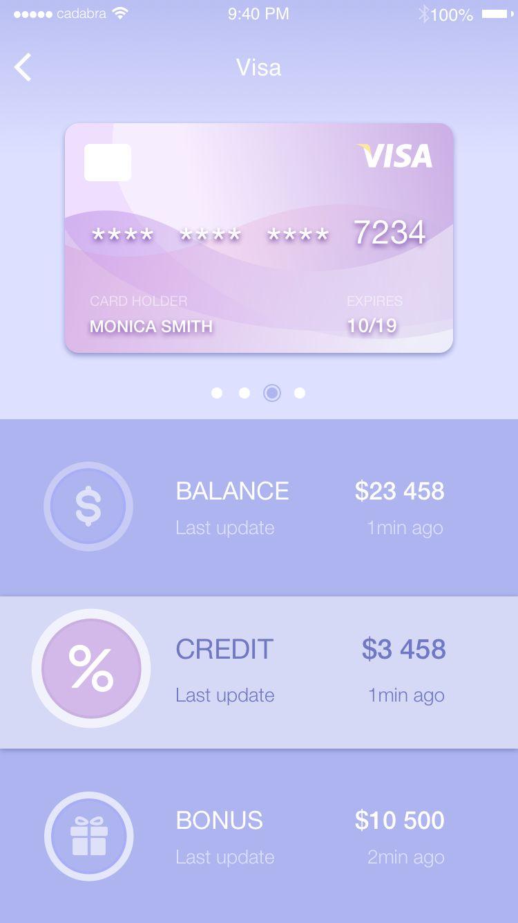 Card ui ios credit card design credit card app card ui
