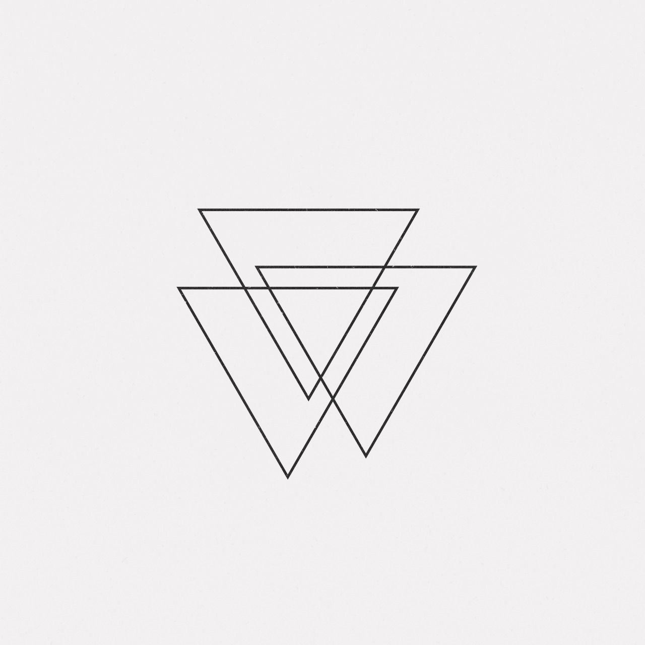 Triple Triangle Tattoo Design: Minimalist Ink; Use Diff Line Weights/tones
