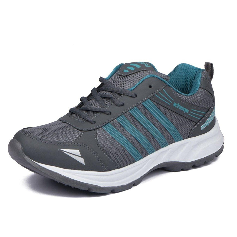 Asian Shoes Wonder 13 Grey Firozi Men's Sports Shoes   Asian