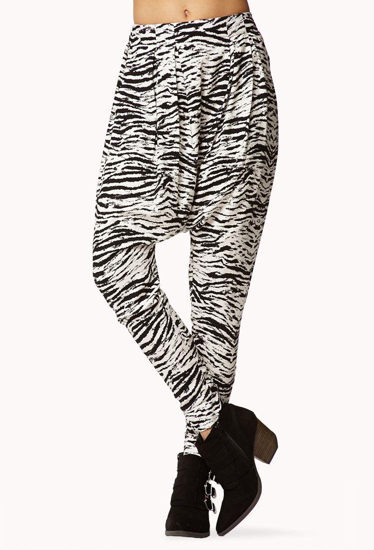 5dec7a4c46 Zebra Print Harem Pants