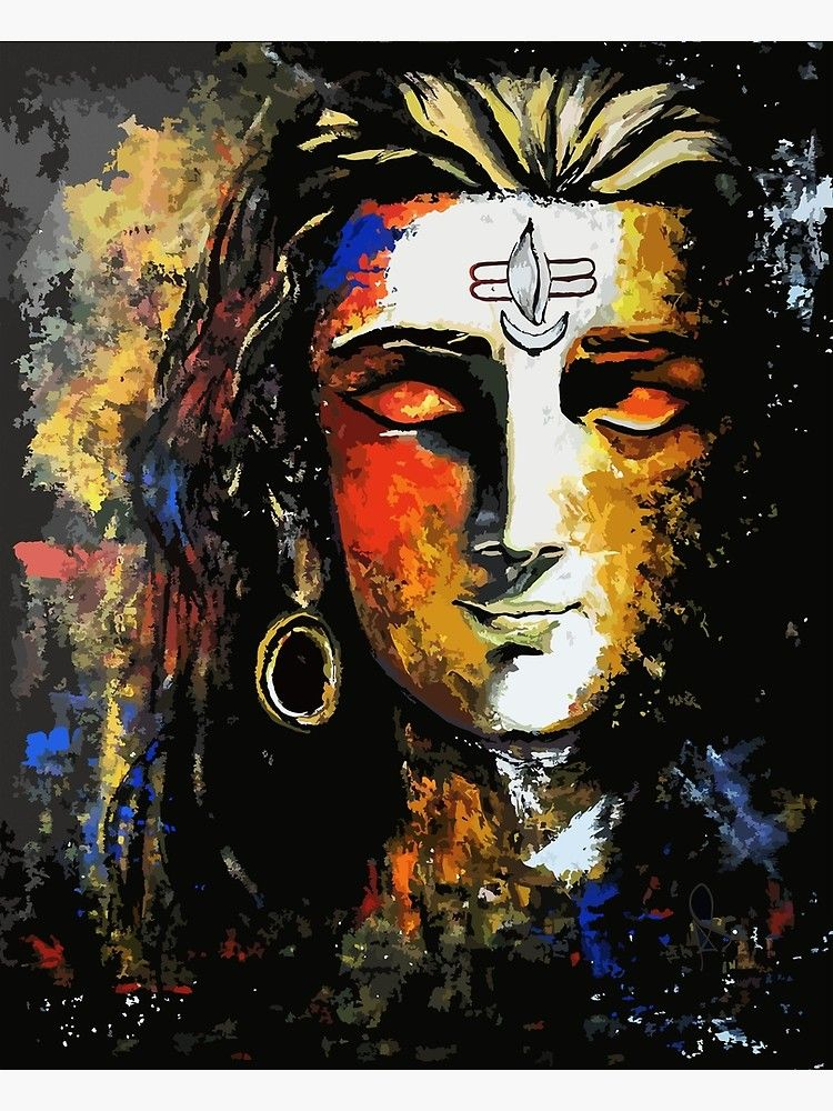 'Shiva' Canvas Print by Apurva Suvarna