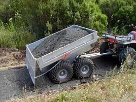 self dumping trailer gardening hobby farming agriculture forestry pinterest atv. Black Bedroom Furniture Sets. Home Design Ideas
