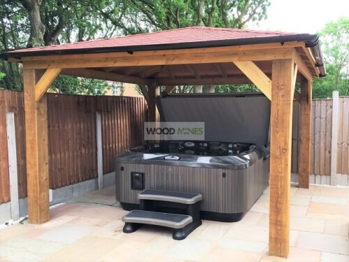 Details About 3m X 3m Regal Gazebo Very Heavy Duty Wooden Hot Tub