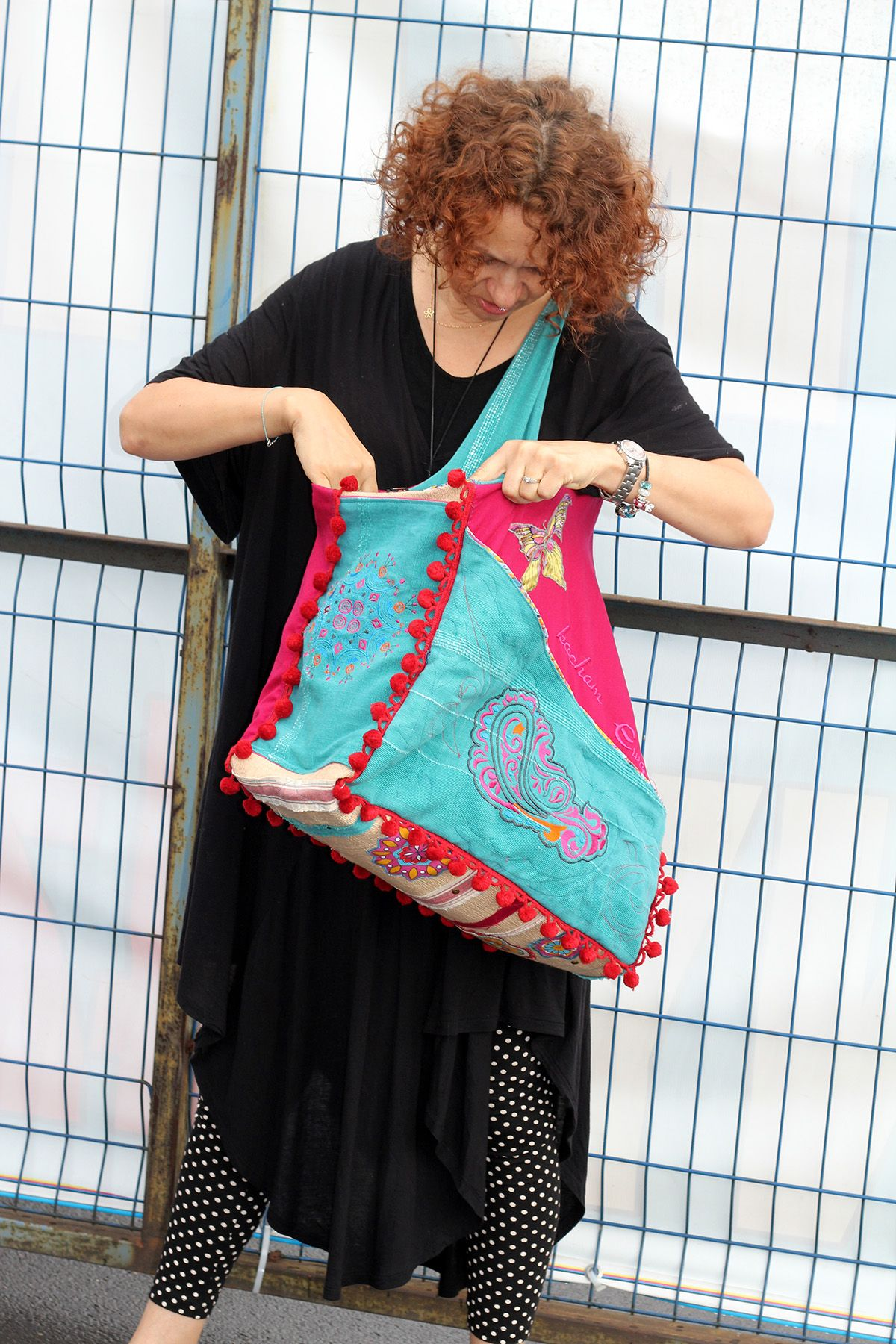 bag BOHO EVE, casual bag, embroidered,