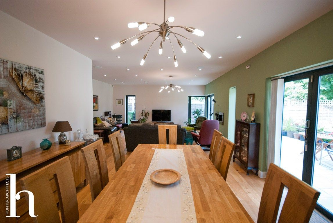 House Dining room with access to garden