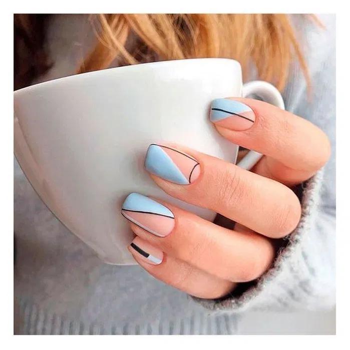 142 Elegant Negative Space Nail Art Designs And Ideas In 2020 Minimalist Nails Square Nail Designs Cute Summer Nail Designs