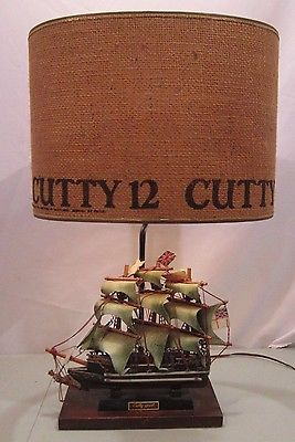 Vintage cutty sark scotch whiskey ship lamp bar light bar display vintage cutty sark scotch whiskey ship lamp bar light bar display mozeypictures Images