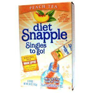 Diet Snapple Singles To Go Peachtea 6 Sticks In Each Box 4 Boxes Misc Diet Snapple Peach Tea Raspberry Tea