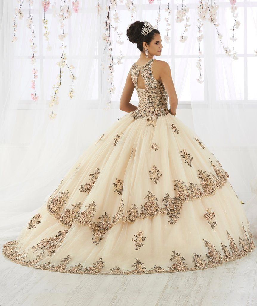 4e609270e03c Lace Embroidered Illusion Quinceanera Dress by House of Wu 26912-House of Wu -ABC Fashion