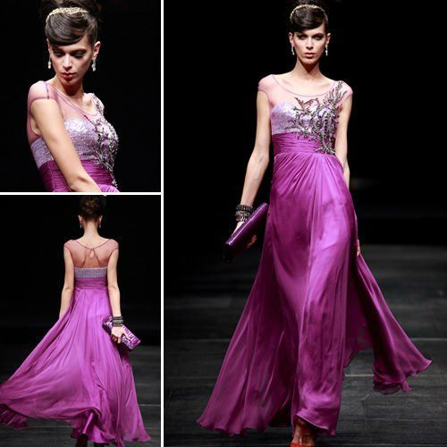 Purple Vera Wang evening gown | Clothing | Pinterest | Kokteyl ...