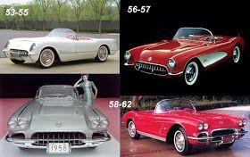1958-62 corvette models