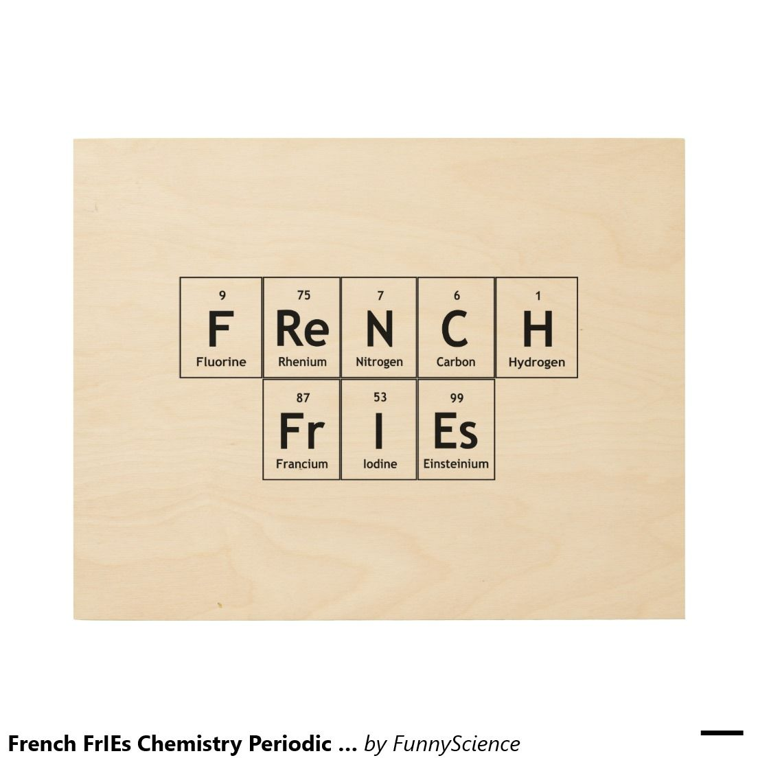 French fries chemistry periodic table word element wood prints french fries chemistry periodic table word element wood prints gamestrikefo Image collections