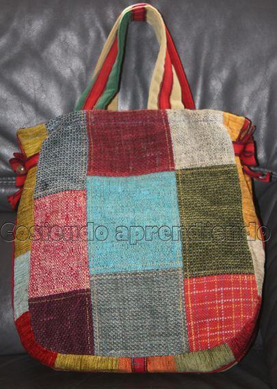 Cosiendo y aprendiendo: Coser con retales de tapicería (1)