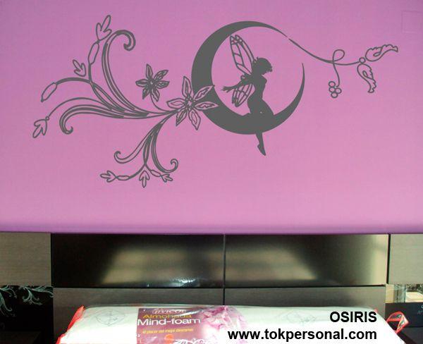 Vinilo decorativo para pared puedes decorar tu dormitorio - Vinilos decorativos dormitorio ...