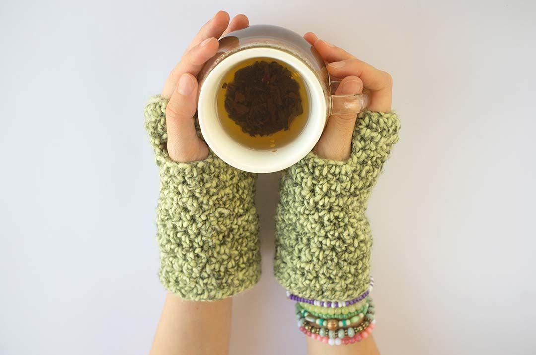 Perfecto Patrón De Crochet Guante Sin Dedos Inspiración - Manta de ...