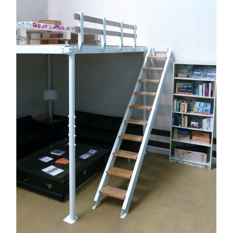 Loft bed TS 8 with lateral stairs | Pinterest | Escalera, Camas y ...