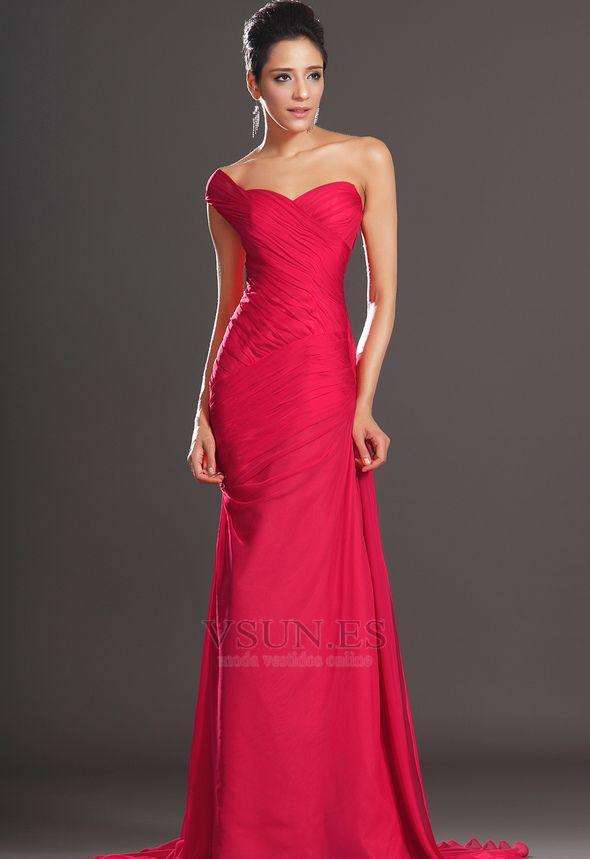 Vestidos de noche color rojo cereza