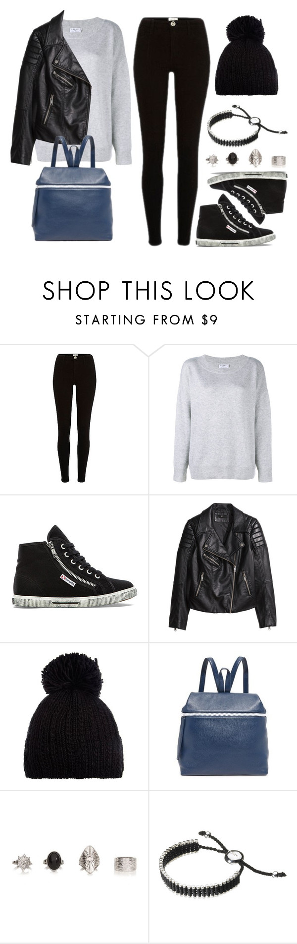 """""""Style #11707"""" by vany-alvarado ❤ liked on Polyvore featuring Frame, Superga, H&M, Barts, Kara and Links of London"""