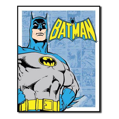 Batman panels retro vintage tin sign superhero retro - Signe de superman ...