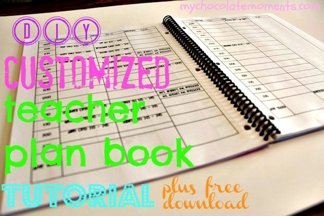 Diy Customized Lesson Planner Tutorial Pinterest Template