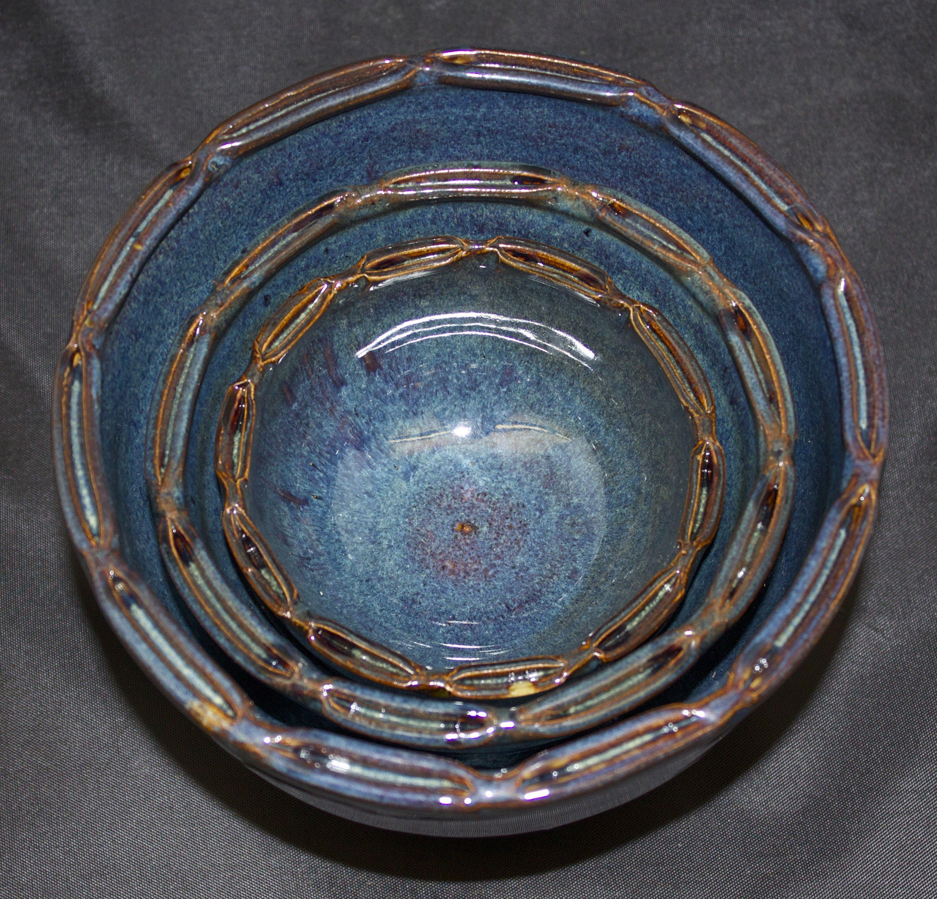 Nesting wheel thrown bowls quality ap studio art art