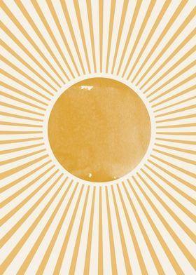 Metal Poster Retro Sun