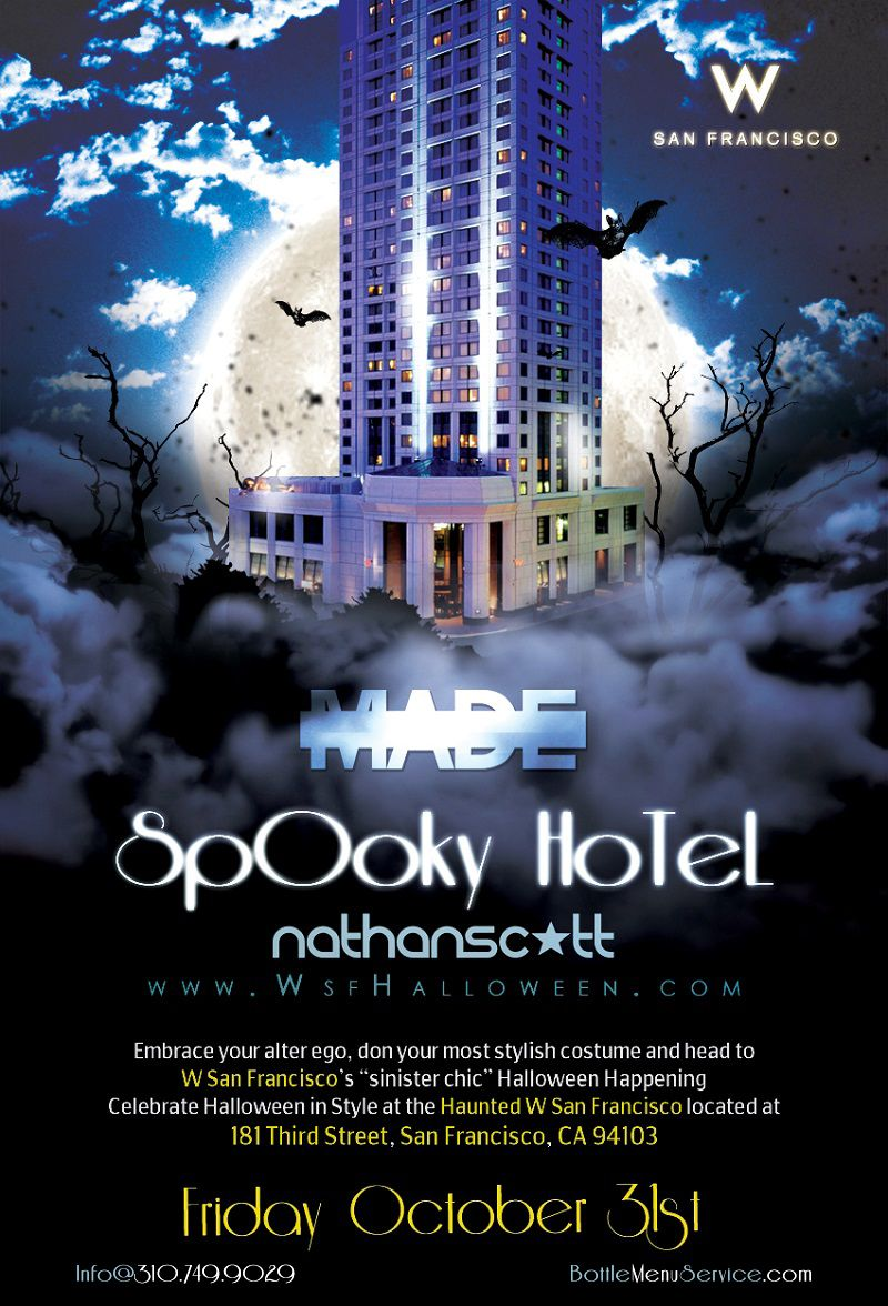 w san francisco turns into a hotel wide haunted house featuring san franciscos hottest deejays spinning top 40 hip hop edm and more